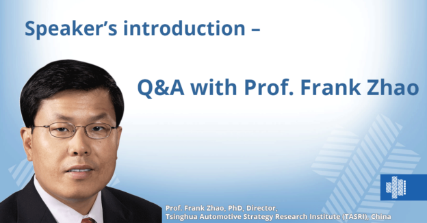 Speaker's introduction oder Q&A with Prof. Frank Zhao, TASRI