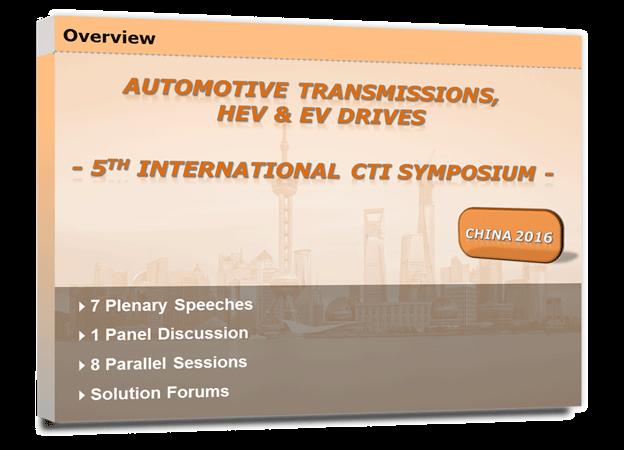 5th International CTI Symposium China - Summary (IfF)