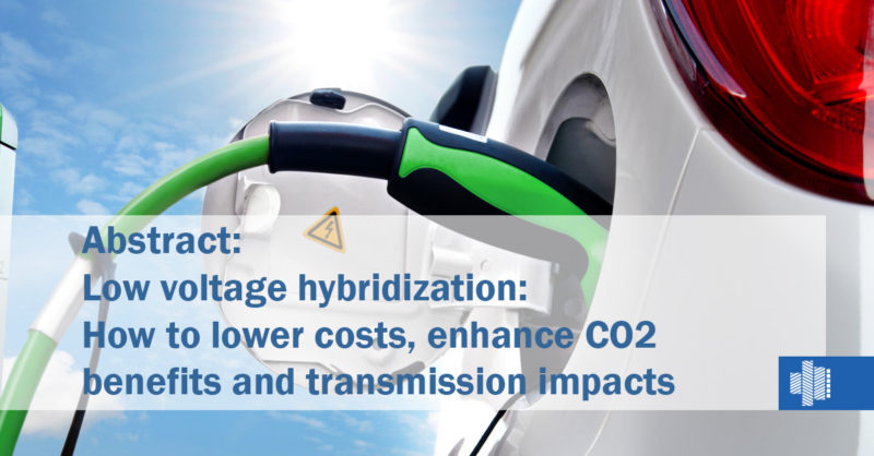 Low voltage hybridization: How to lower costs, enhance CO2 benefits
