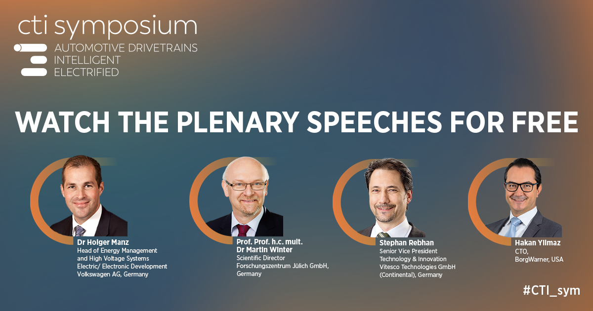 Video recordings of selected plenary speakers at the CTI Symposium Berlin