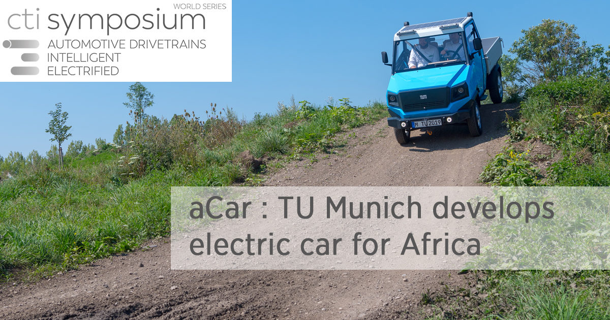 aCar : TU Munich develops electric car for Africa