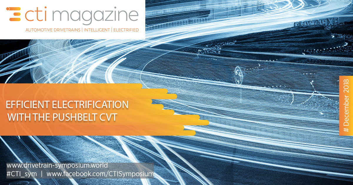 Efficient Electrification with the Pushbelt CVT