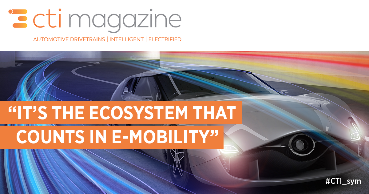"""It's the Ecosystem that Counts in E-Mobility"""