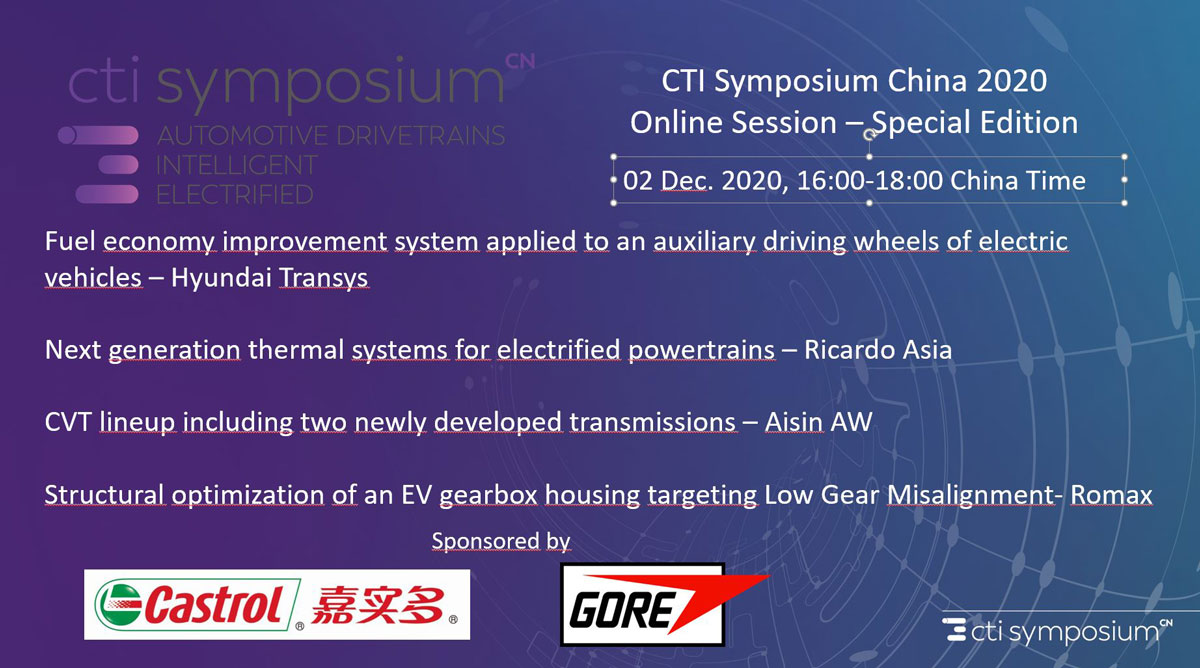 CTI Symposium China 2020 Online Session
